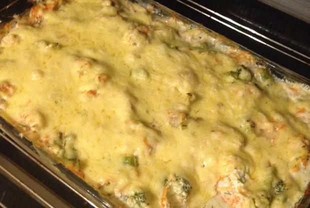 Куриное филе с брокколи под сыром