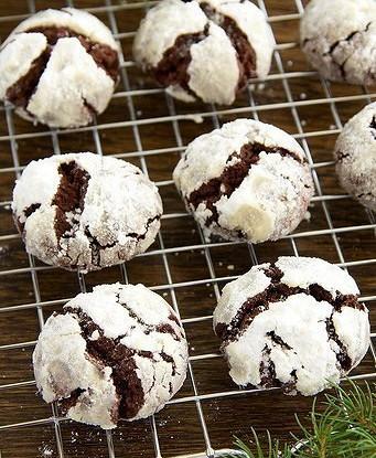 Шоколадное печенье «Снежные вершины»