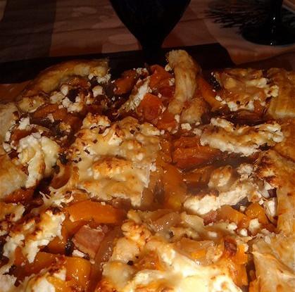 Пирог с тыквой и сыром фета