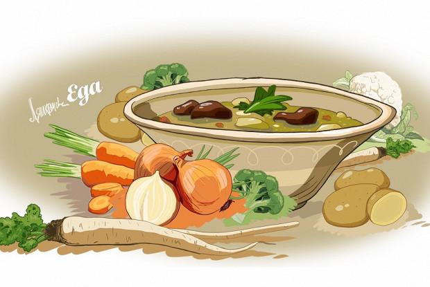 Суп из потрохов