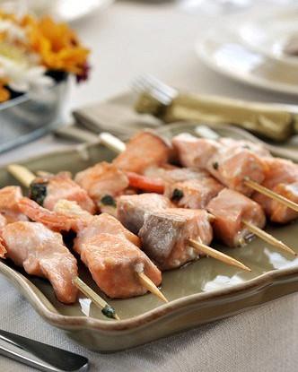 Шашлыки из лосося в специях (Tandoori Rawas)