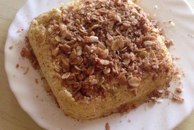 Творожно-яблочное суфле с корицей и медом