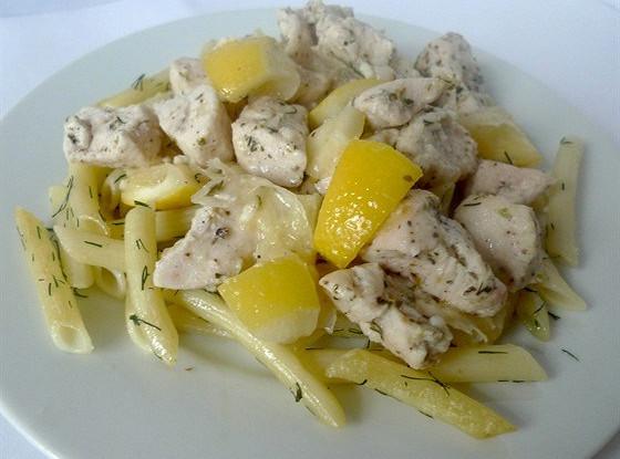 Куриное филе, запеченное с лимонами