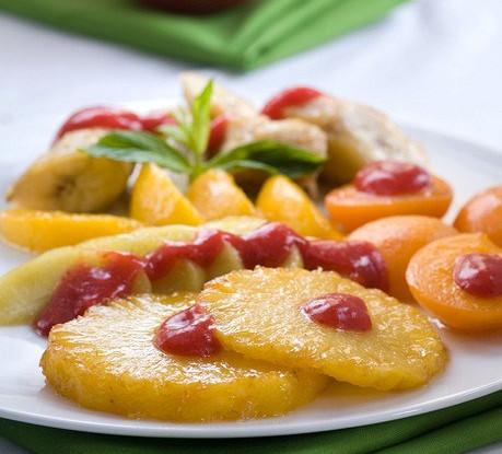Печеный карамелизованный ананас