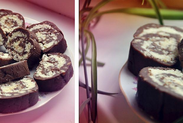 Кокосовые пирожные без запекания