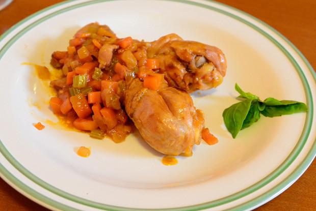 Итальянская курица по-охотничьи