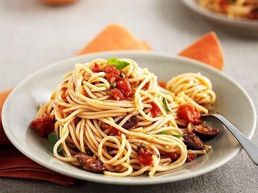 Спагетти с баклажанами с пармезаном