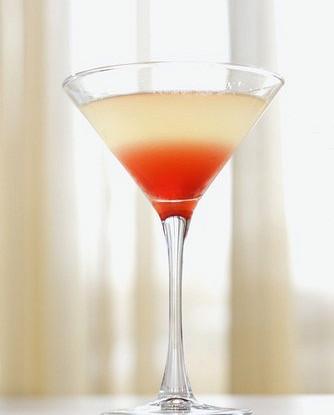 Персиковый мартини с малиной
