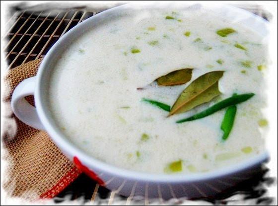 Ирландский суп с геркулесом и луком-пореем