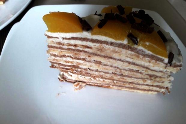 Вафельный торт с кремом из сыра маскарпоне