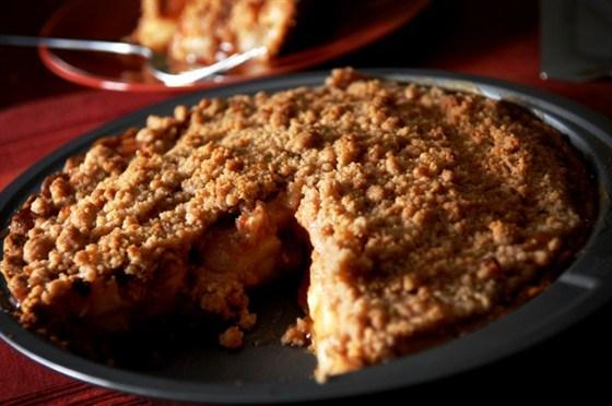 Слоеный пирог с яблоками и миндалем по-нормандски