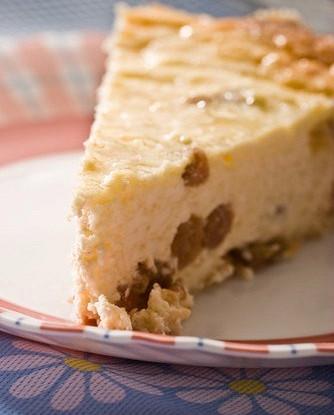 Немецкий творожный пирог с изюмом
