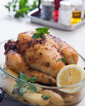 Жареная курица с лимонами и фенхелем