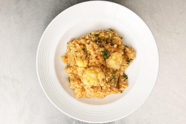 Рис с треской и цветной капустой