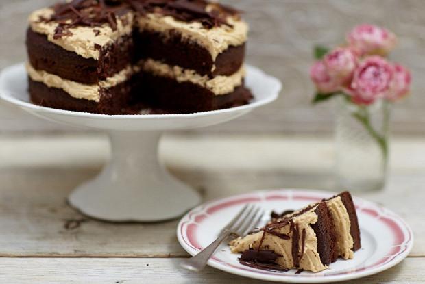 Пряный кофейно-шоколадный торт