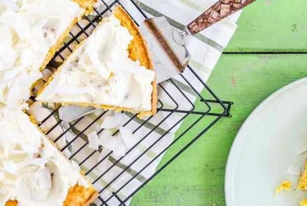 Тыквенный пирог с кокосом