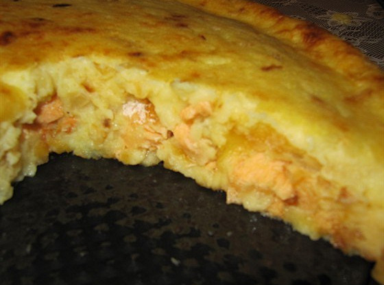 Картофельная запеканка с семгой