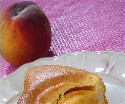 Карамельно-персиковый пирог