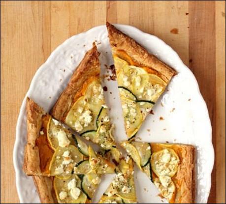 Тыквенный пирог с козьим сыром