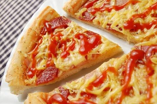 Пицца с копченым окороком