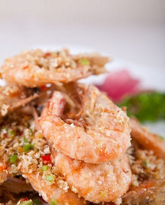 Креветки в сычуаньском перце и соли