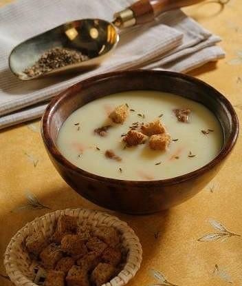 Суп-пюре из картофеля с тмином