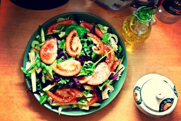 Овощной осенний салат