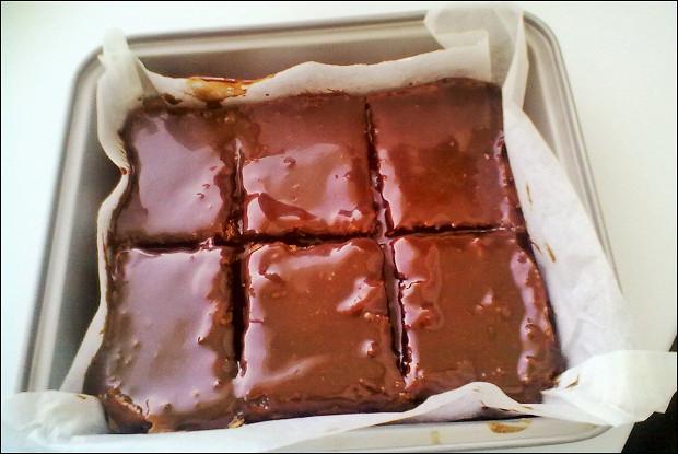 Брауни с какао в глазури