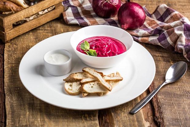 Теплый свекольный крем-суп от шеф-повара ресторана «Ткемали»