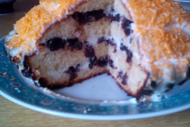 Торт со сметаной и черносливом