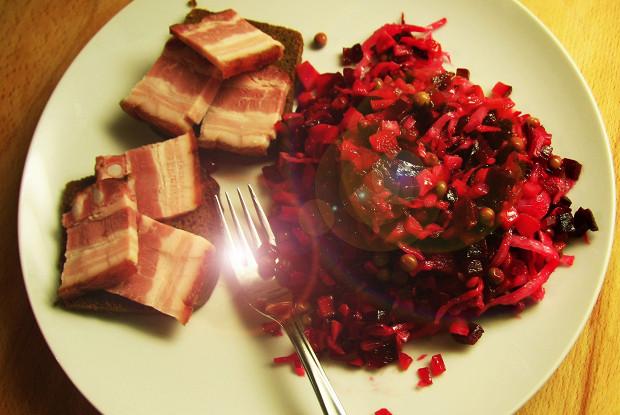 Винегрет классический с запеченными овощами