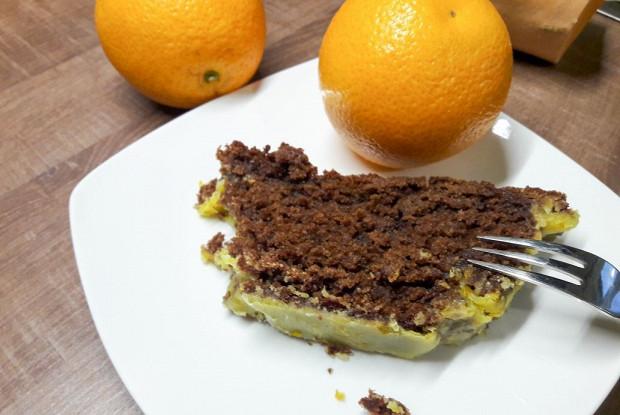 Шоколадно-тыквенный кекс с имбирно-апельсиновой глазурью