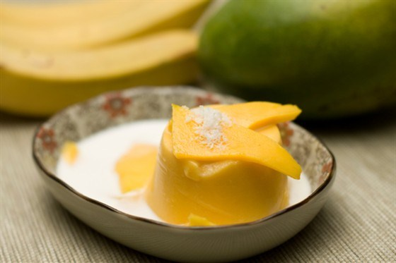 Пудинг из папайи и банана