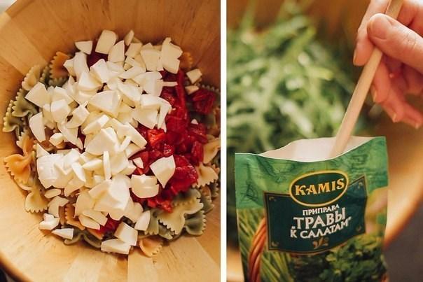 Салат с пастой и болгарским перцем