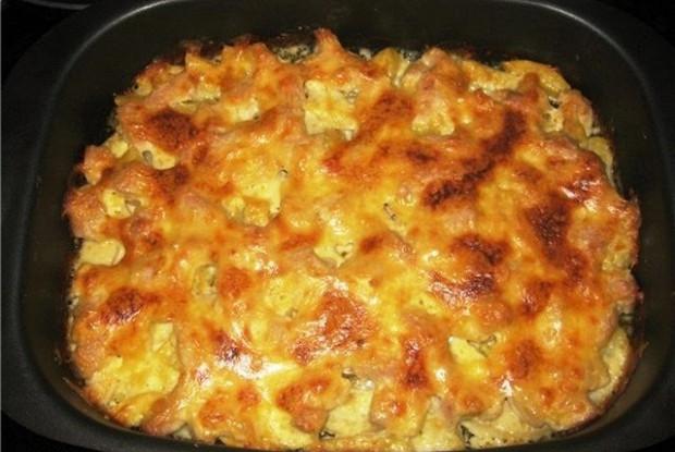Запеканка из баранины с картофелем