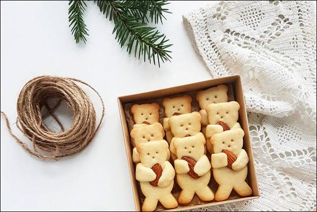 Песочное печенье Мишки