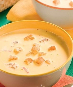 Сырный крем-суп с морепродуктами