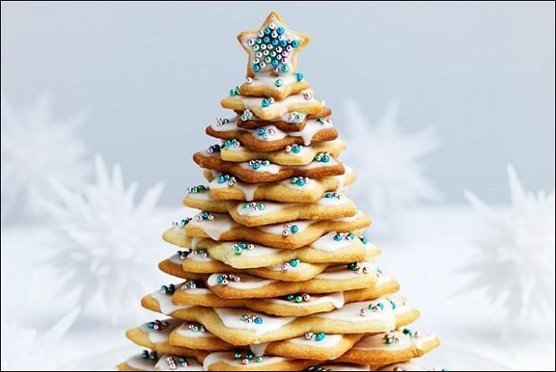 Праздничная ёлка из печенья