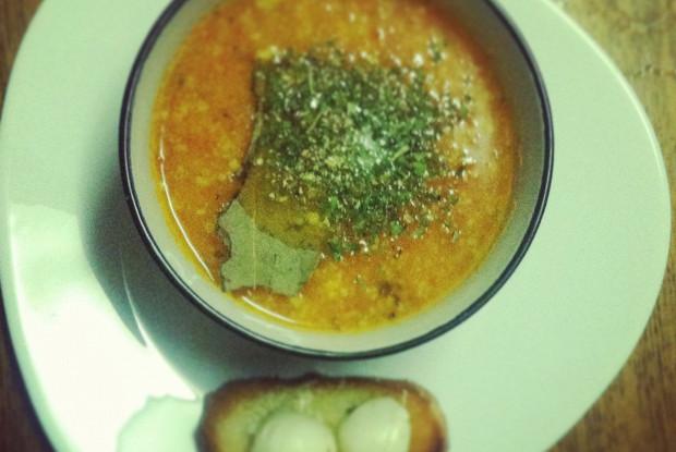Томатный суп-пюре с авокадо