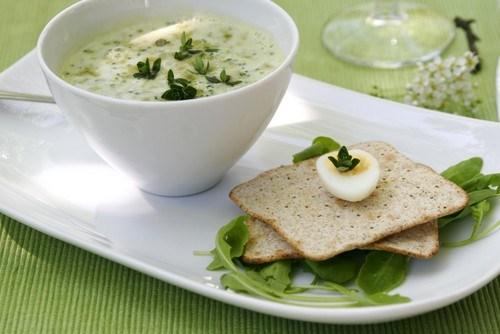 Куриный суп с яйцом и зеленым луком