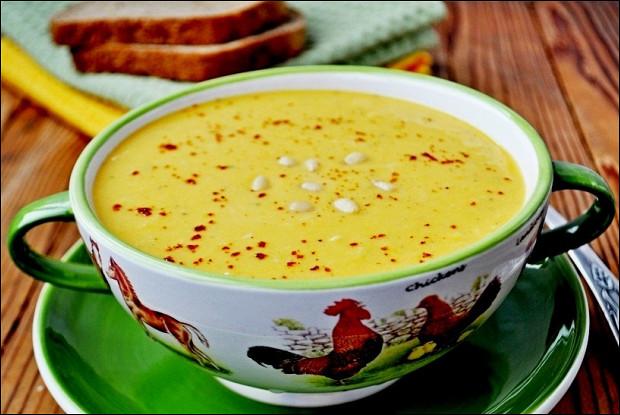 Суп-пюре из тыквы с тахини