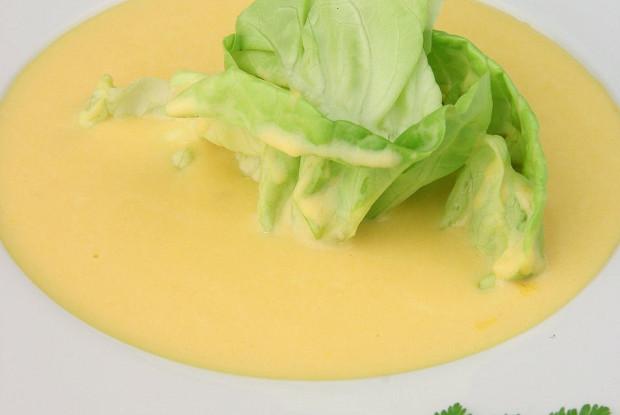 Суп-пюре из тыквы с латуком
