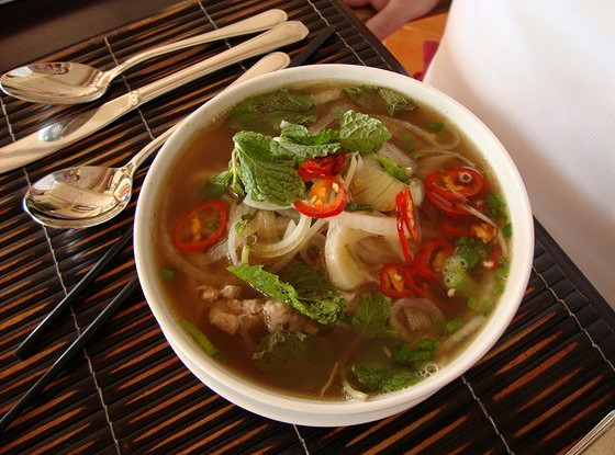 Вьетнамский суп «Фо» с курицей