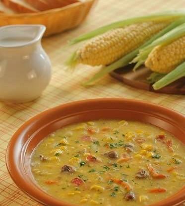 Суп с кукурузой и беконом
