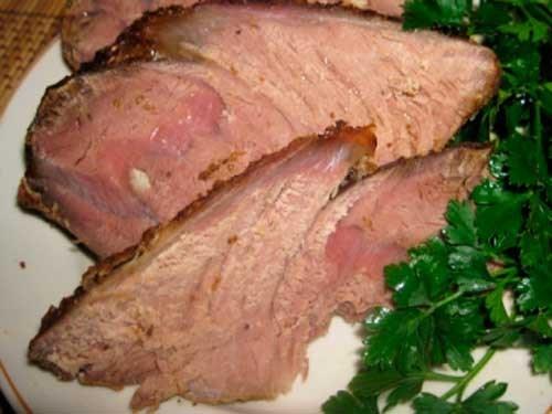 Запеченное мясо с лимонным соком