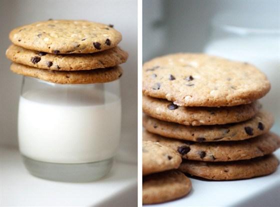 Печенье с каплями шоколада