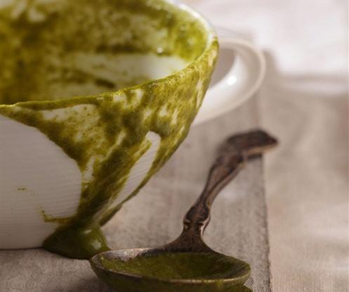 Крем-суп из шпината и смеси салатов