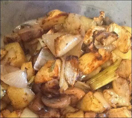 Теплый картофельный салат с фенхелем