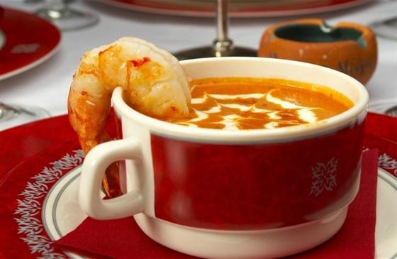 Креветочный суп с бренди