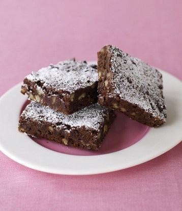 Шоколадный пирог без муки с грецкими орехами